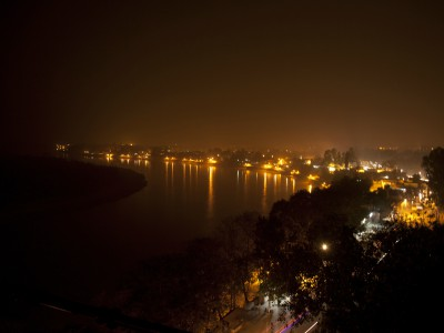 View river at night